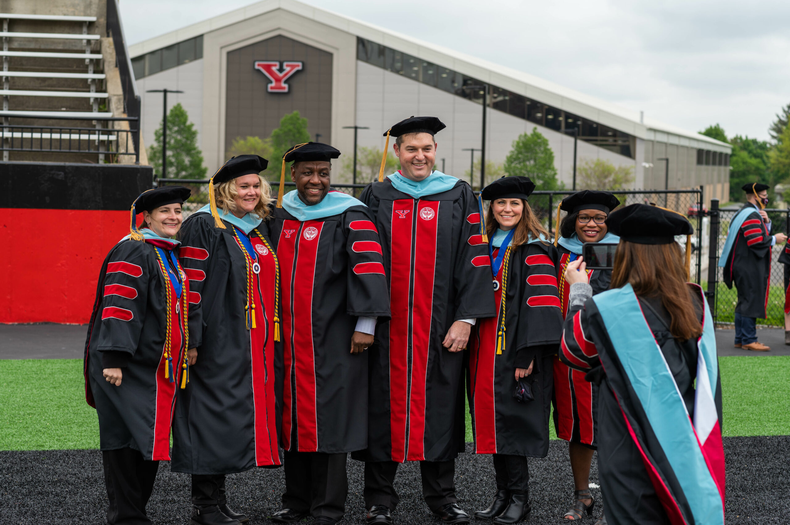 Group of graduate students at Spring 2021 Graduation