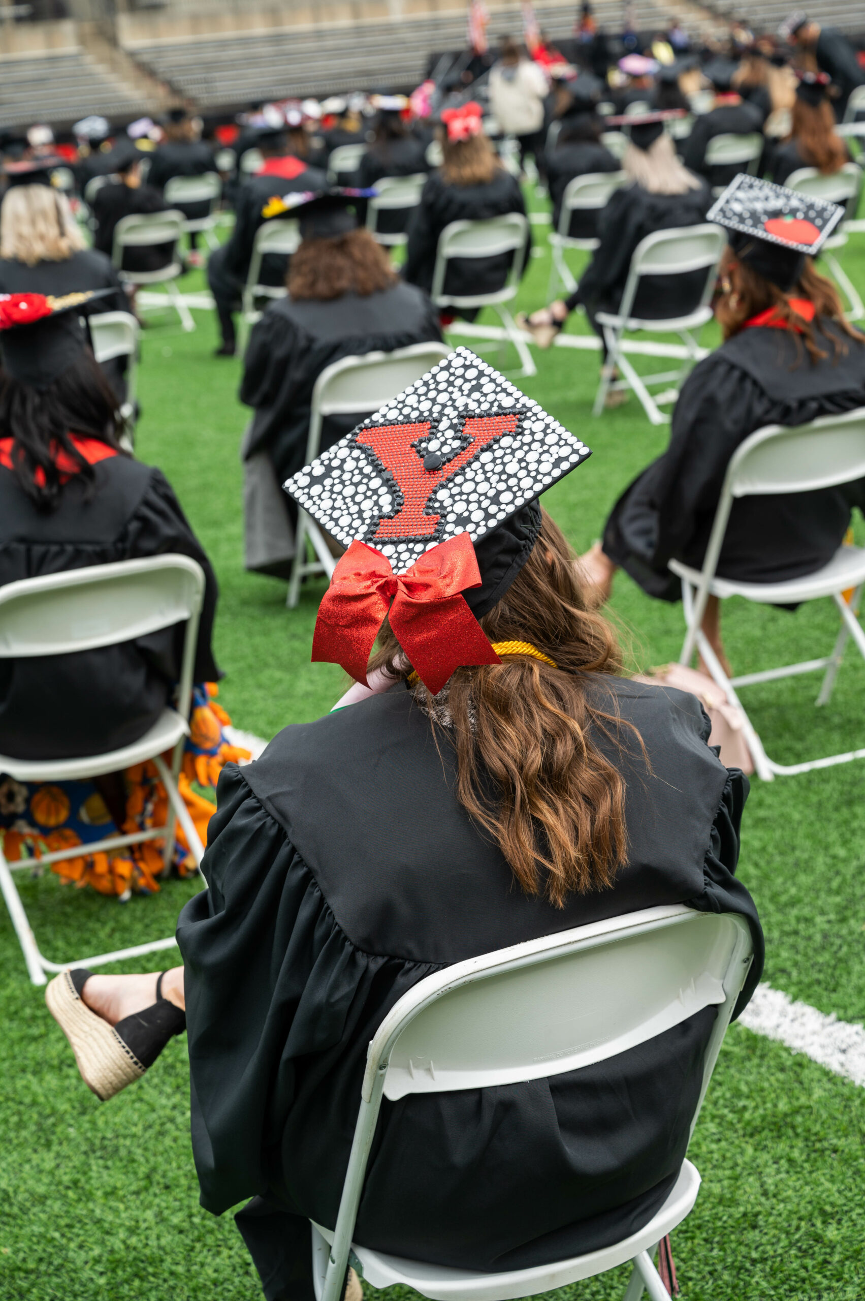 YSU student at Spring 2021 Commencement