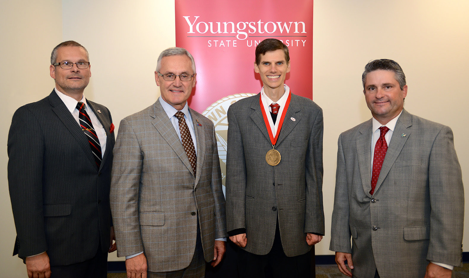 Endowed faculty with President Tressel