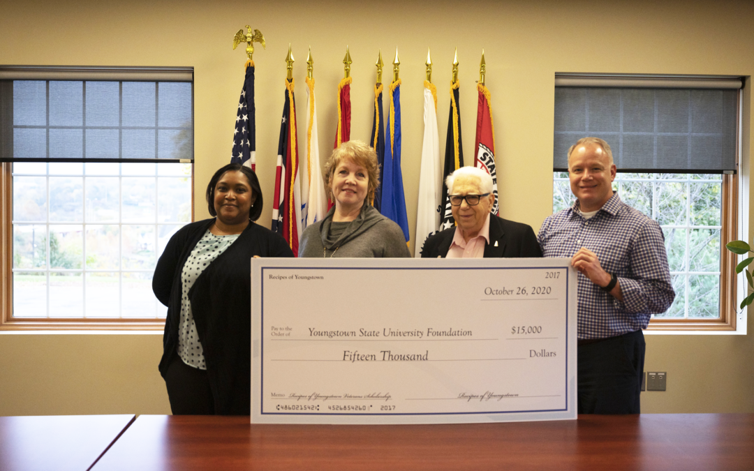 Recipes of Youngstown donates $15,000 for YSU veterans scholarship